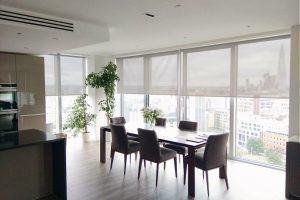 persianas enrollables Sunscreen Visillos y velos para casa oficina