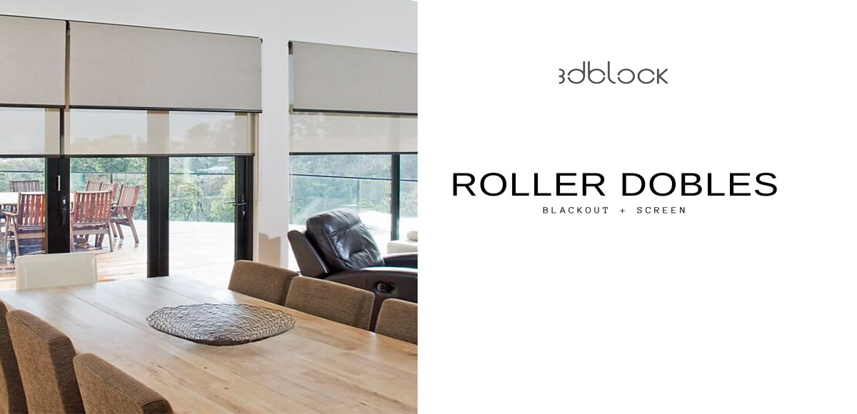 cortinas roller luxaflex living