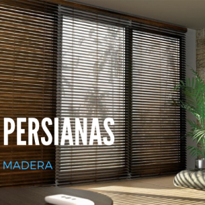 cortinas persiana madera