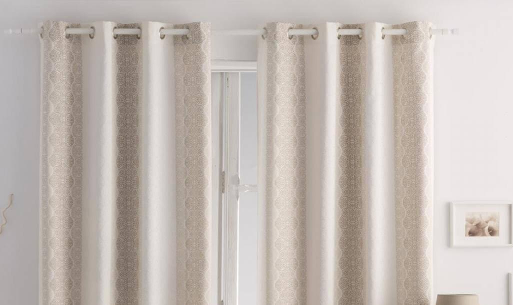 Cortinas con ollos cortina tradicional tela con diseño