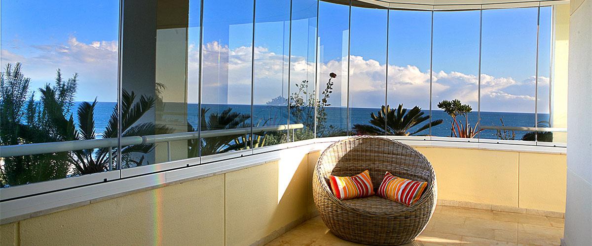 cierre balcon toldos pergolas vidrios templado laminado