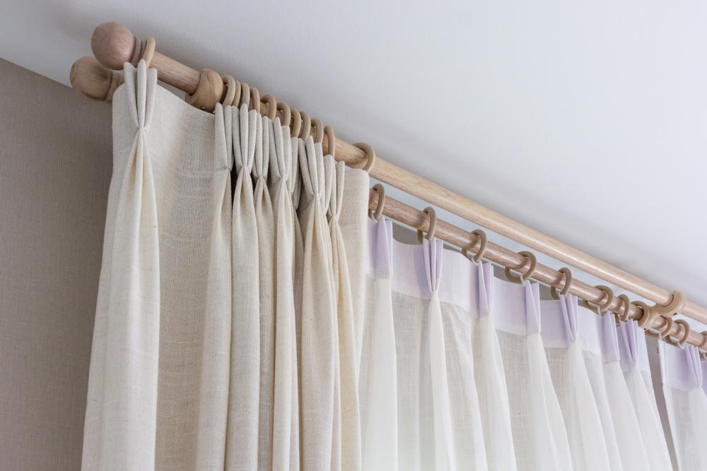 Cortinas convencionales de tela baratas