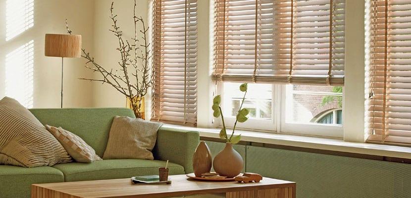 Persianas venecianas cortinas de madera cortinas para living oficinas